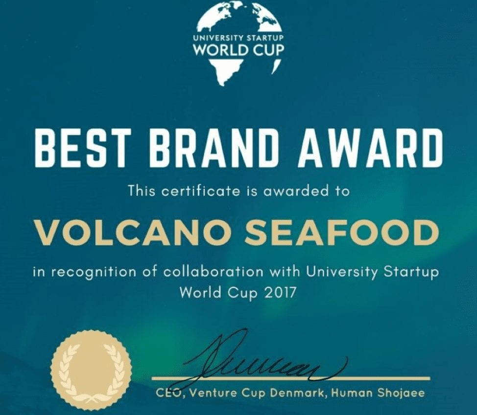 Best Brand Award 2017 - Volcano Seafood
