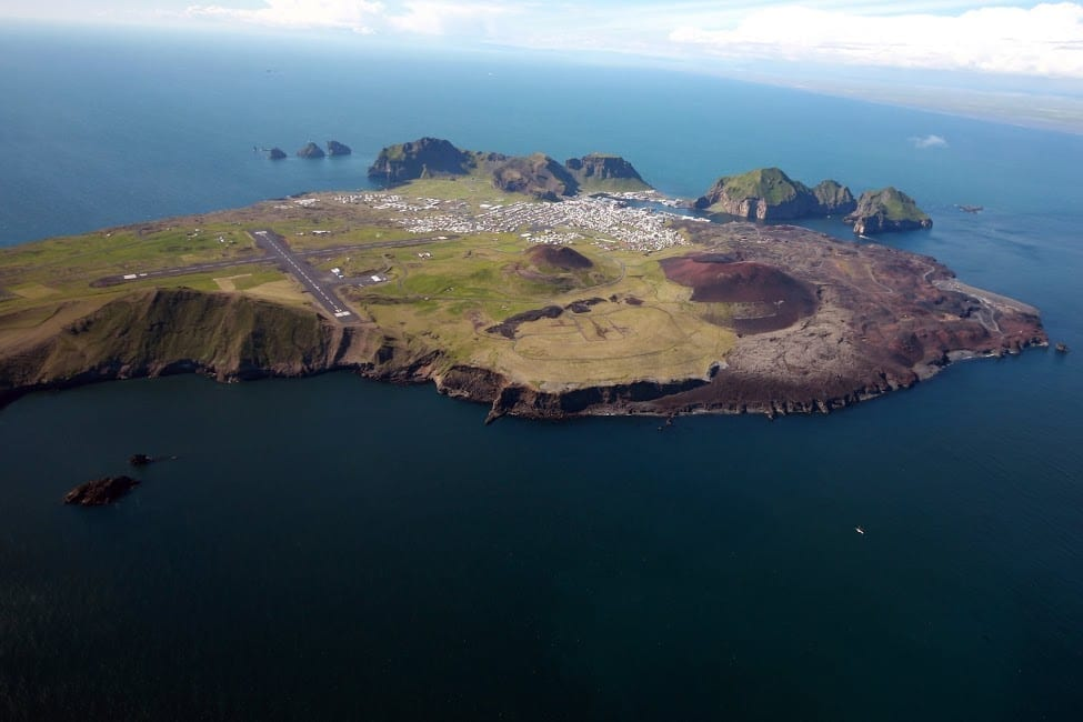 Westman Islands from above - Vestmannaeyjar seen from above