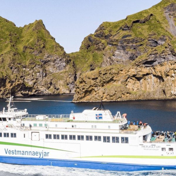 Ferry sailing to Westman Islands