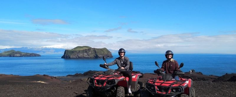 Drive on lava in Westman Islands iceland volcano ATV tour